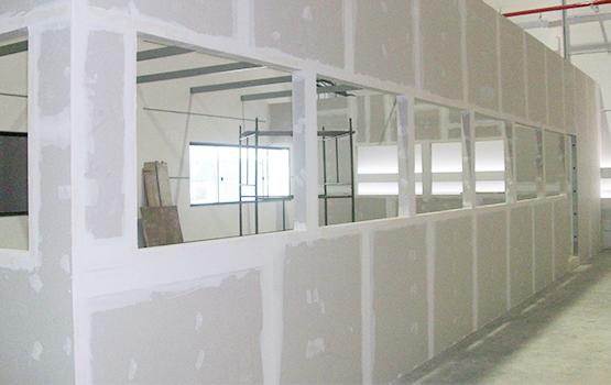 ilustrasi partisi ruangan dari gypsum